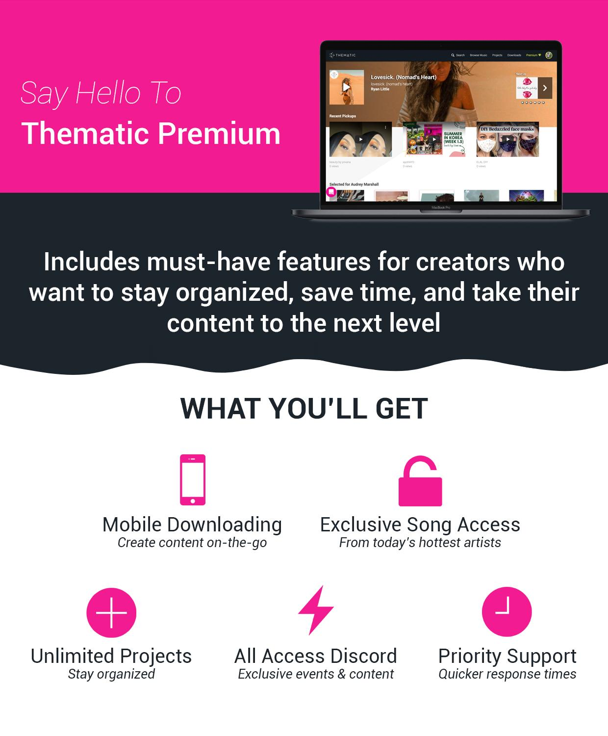 Say Hello to Thematic's Premium Experience
