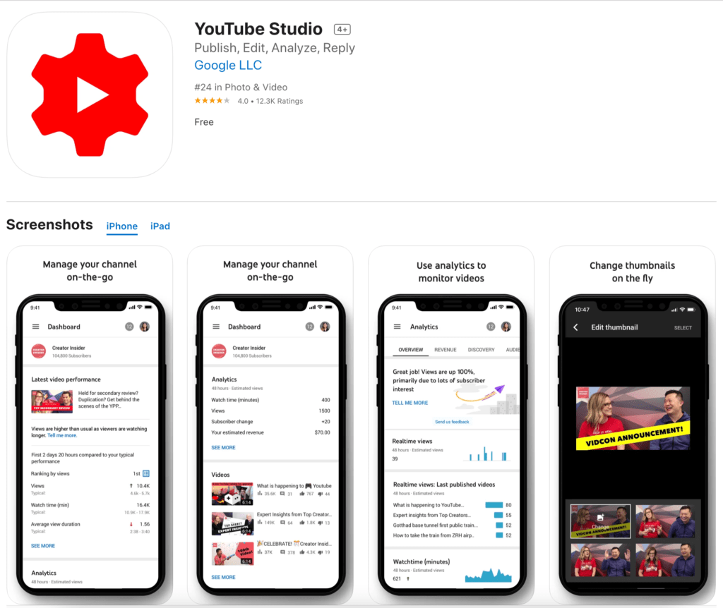 YouTube Studio Mobile App - Manage Your YouTube Channel On-The-Go
