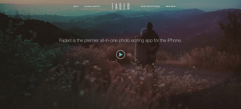 Faded - All-In-One Photo Editing App for iPhone